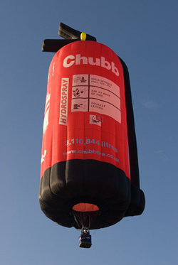 Special Shapes Balloons - Chubb fire extinguisher hot air balloon