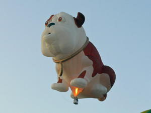 Churchill the dog balloon oh Yes