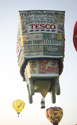 Tesco trolley in the skies