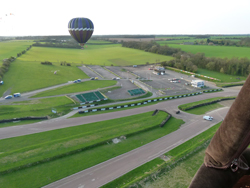 Balloon take off from Lydden Hill Motor Racing Circuit