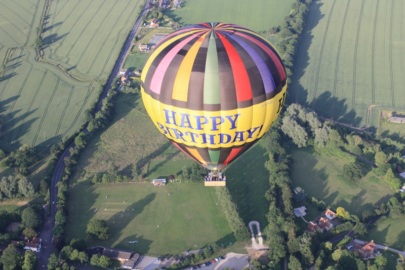 It's a great birthday present to float over the beautiful Sussex countryside on a hot air balloon flight with our happy birthday balloon rides.