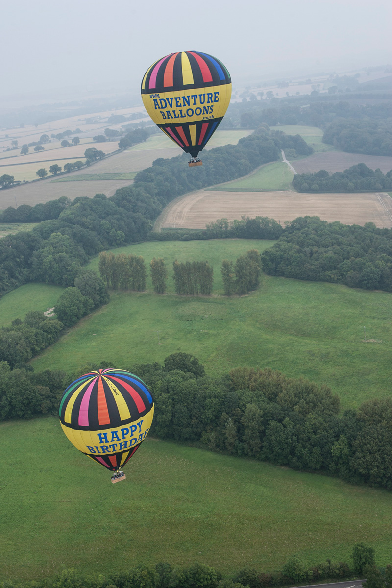 Alton Hampshire Hot Air Balloon Rides Festival Aerial Picture Two