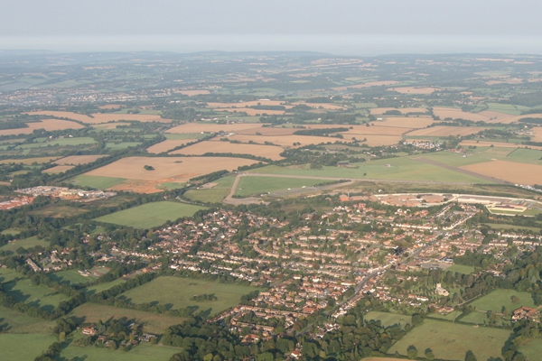 Bovingdon village and WWII Airport