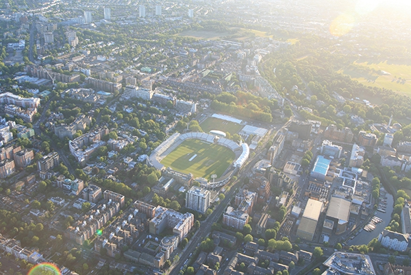 Over the years we have flown over most of the major sporting sites of London and taken some great aerial pictures. Here is one of the Lords Cricket Ground.