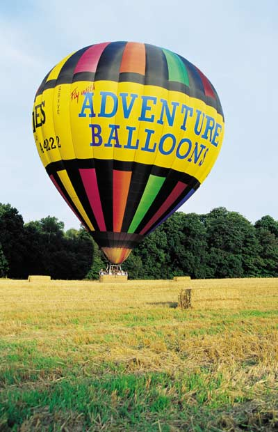 Adventure Balloons taking off