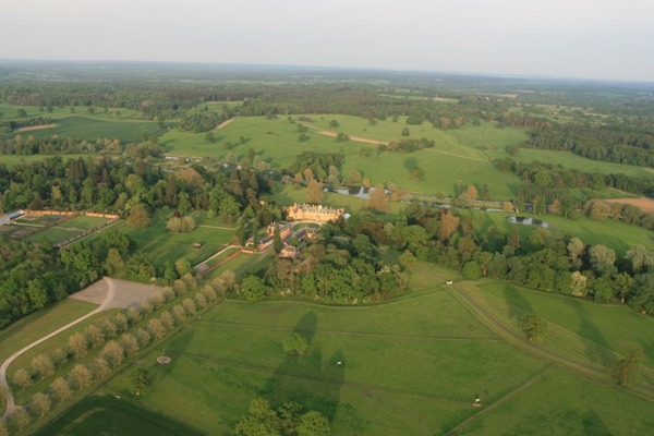 Adventure Balloons over the Duke of Wellington's house at Stratfield Saye.