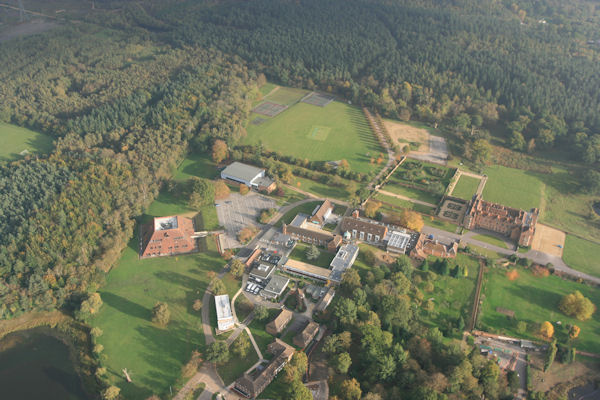 Bramshill Police College aerial view.