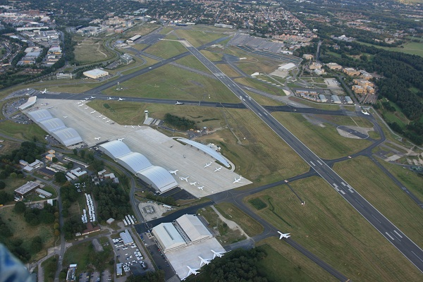 Farnborough Airport looking from the north west