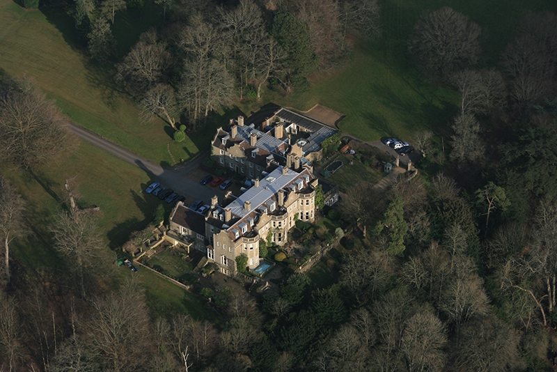 Here is a typical Surrey country house we spied from the air on our balloon flight