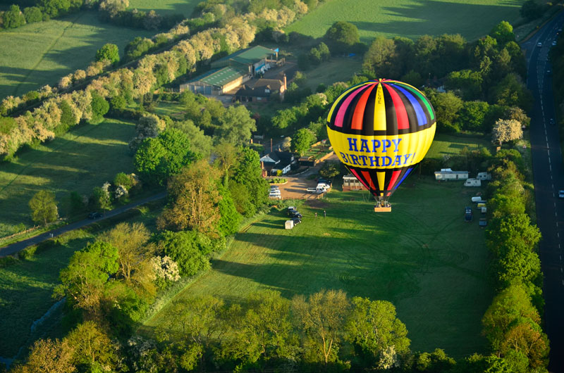 Take off from the famous ballooning venue of the Black Horse at Great Missenden and drifting slowly over the Chilterns towards Chesham and Amersham on a summer morning balloon ride.