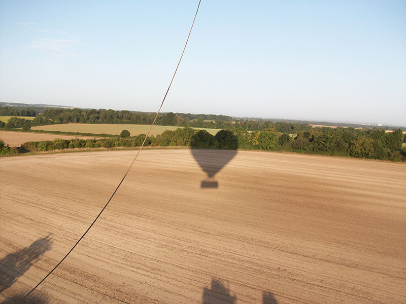 Shadow of the heart shaped balloon