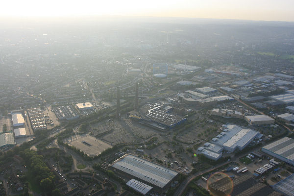 Aerial view of Ikea at Croydon