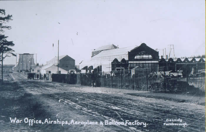 The balloon factory buildings at Farnborough