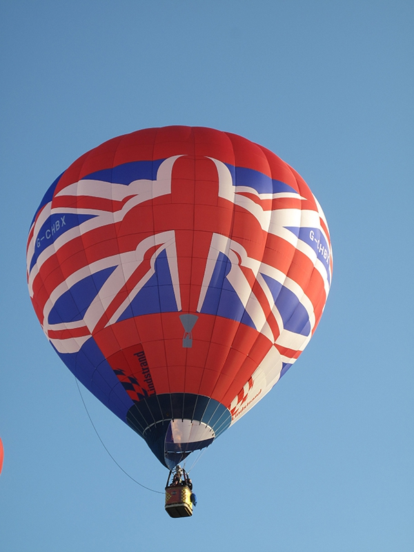 The Lindstrand Union Jack balloon has three