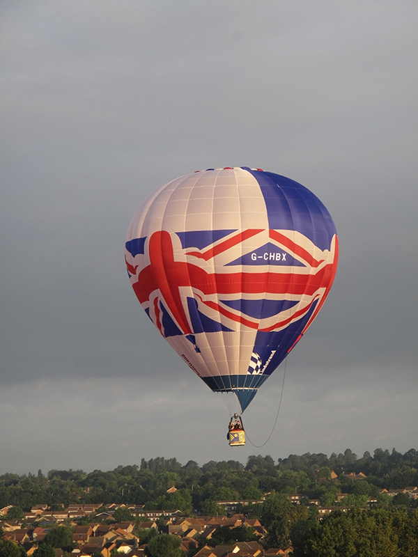 The clever design of this balloon creates the image of a balloon within a balloon on each of its three faces. The Lindstrand factory team had great fun building this balloon and making it part of the Oswestry town Queens Jubilee celebrations in 2012