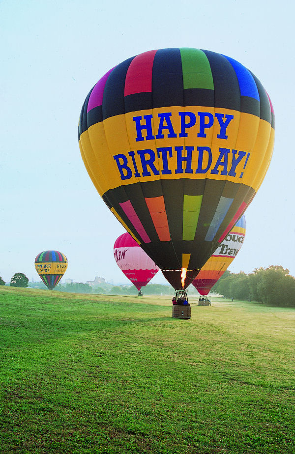 Our smaller hot air balloon which takes two passengers on an exclusive charter ballooning trip is particularly popular for proposals, wedding anniversaries or special birthdays and other occasions. Click here for prices to fly in this balloon.