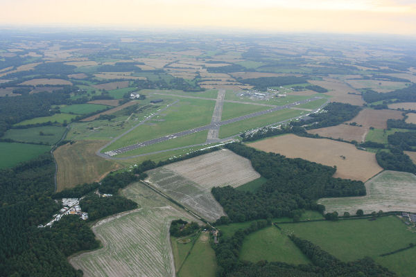 Lasham airfield - We often land here when the wind allows.