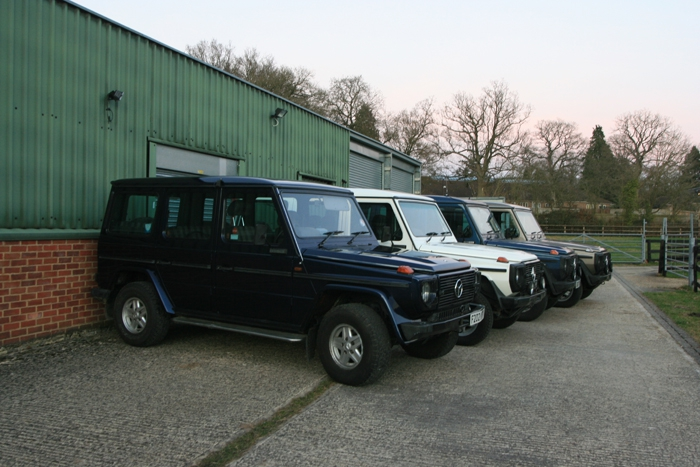 "Our Mercedes G Wagen balloon rides recovery vehicles ""on parade"