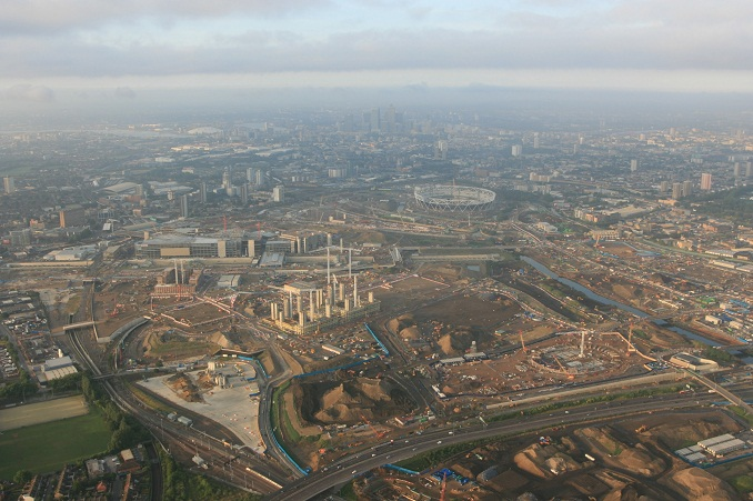 Olympic Site Stratford Aerial View 16th July 2009