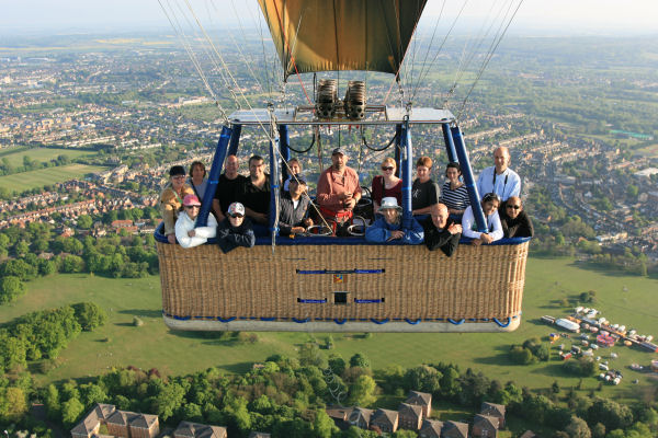 Hot air balloon flight take off from South Park Oxford