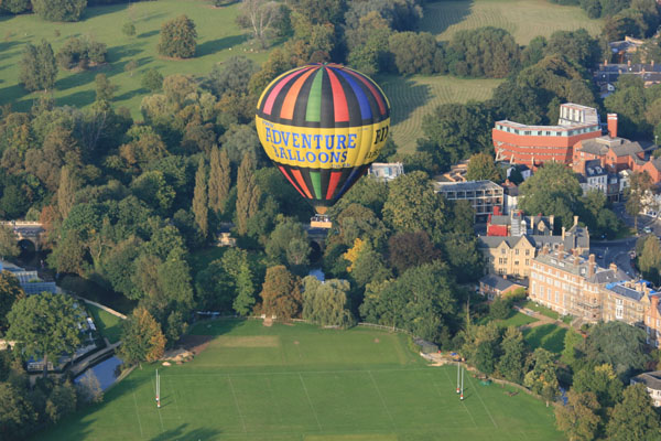 Hot Air Balloon rides over Oxfordshire from Oxford's South Park and Cutteslowe Park