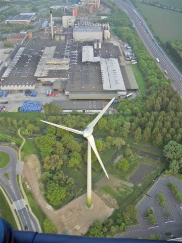 Reading wind turbine - Green Park