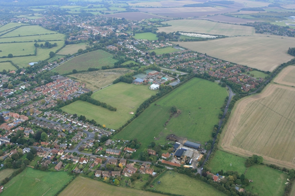 Birds Eye View Of Robert Mays School Situated In Odiham