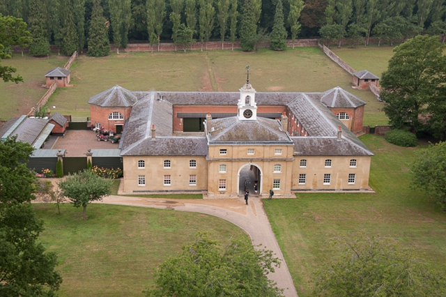 Ariel picture of hackwood house for Picture of house