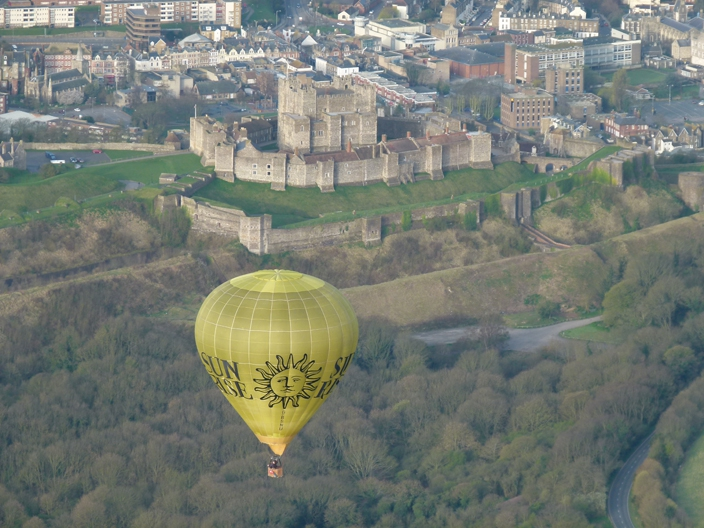 Sunrise Balloon over Dover Castle at Sunrise