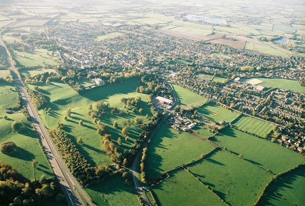Ariel view of Tring by balloon