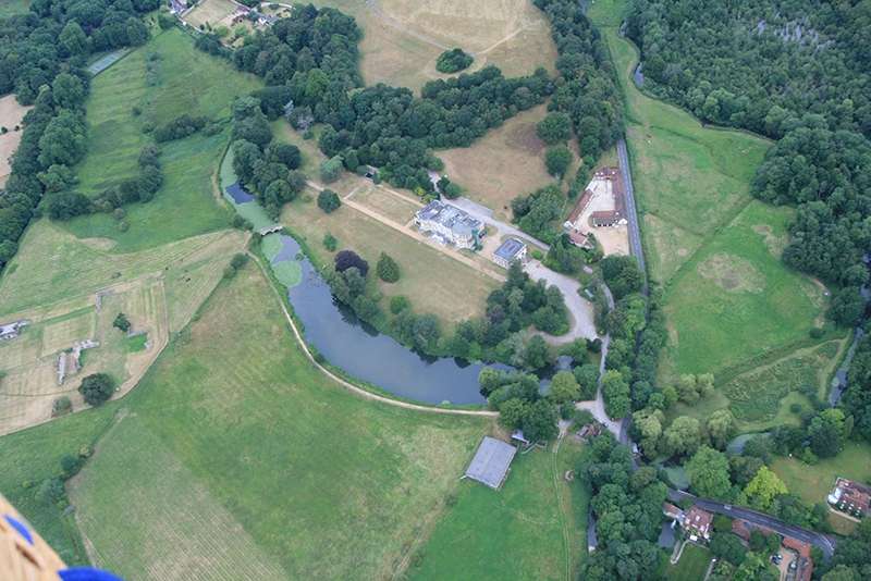 Waverley Abbey and Lake aerial picture