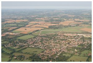 Bovingdon village and WWII Airport.