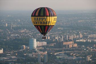 Happy Birthday Balloon Flight over London