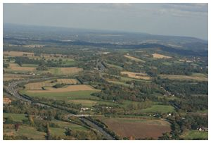 Hogsback and A3 looking towards Guildford