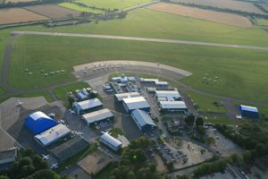 Aerial view London Oxford Airport Kidlington