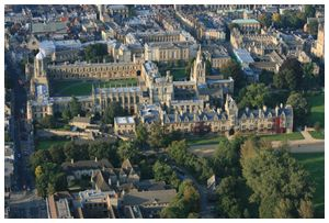 Christ Church, Oxford view from balloon