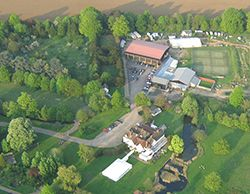 Aerial picture of one of our take off sites for our Essex balloon flights at Prested Hall