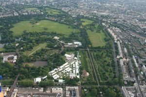 Flying over regents park