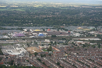 Another aerial view of Reading's famous music festival, this one from 2010