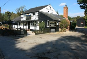 The Black Horse Pub at Great Missenden, a centre for ballooning over the Chilterns