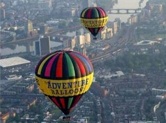 2 Adventure Balloons Floating Over London