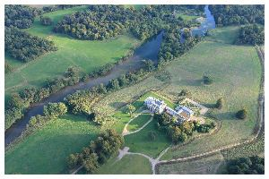English Heritage Northington Grange aerial view by hot air balloon
