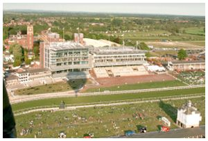 Aerial view of York Racetrack