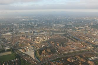 Olympic Site Stratford Aerial View - 16th July 2009