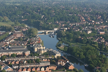 A nice aerial view of Caversham Bridge Reading