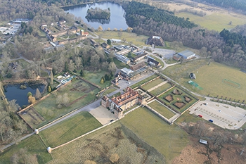 Recent aerial picture of Bramshill Police College before it closed in 2015