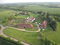 Typical aerial view at Cressing Temple on Essex Balloon Rides