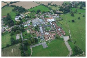 Treloar College aerial view by balloon.