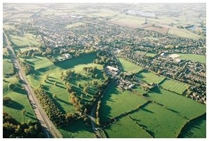 AERIAL VIEW OF TRING BY BALLOON